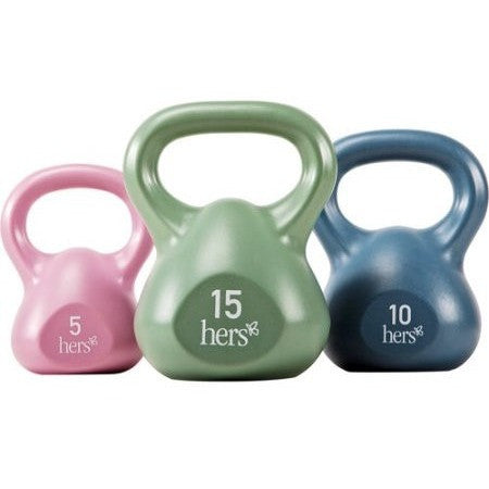 Hers Vinyl 30-lb. Kettle Weight Set: VKBS-30 - Shopatronics - One Stop Shop. Find the Best Selling Products Online Today