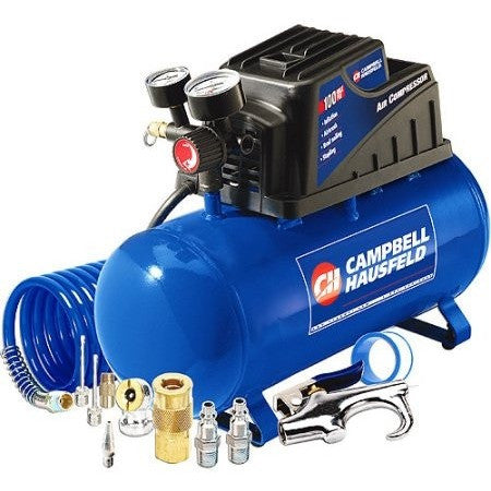 Campbell Hausfeld 3 Gallon, 110psi Air Compressor & 11pc Accessory Set Bundle - Shopatronics - One Stop Shop. Find the Best Selling Products Online Today
