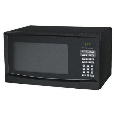 Hamilton Beach 0.9 cu ft Digital Microwave, Black - Shopatronics