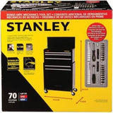 Stanley 5-Drawer Rolling Tool Chest with Bonus 68-piece Mechanics Tools Set STMT74898 - Shopatronics