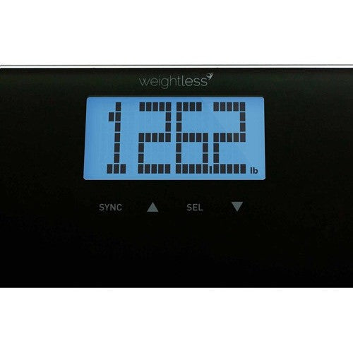 Weight Gurus Smartphone Connected Digital Body Fat Scale, Large Backlit LCD and Weightless Technology - Shopatronics