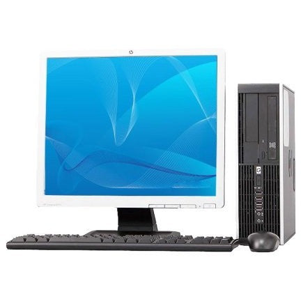 REFURBISHED HP 8000 Elite C2D 3.0GHz 4GB 250GB DVD Win 7 Home Computer + 17
