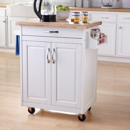 Mainstays Kitchen Island Cart, Multiple Finishes - Shopatronics - One Stop Shop. Find the Best Selling Products Online Today
