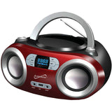 SuperSonic SC-509BT Portable Bluetooth Audio System, Red - Shopatronics