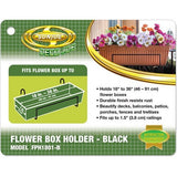 Sun Joe Flower Box Holder, Black - Shopatronics