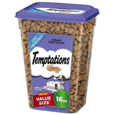 TEMPTATIONS Classic Treats for Cats Creamy Dairy Flavor 16 Ounces - Shopatronics