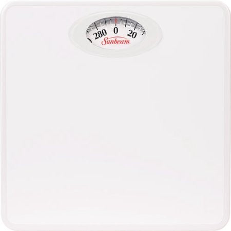 Sunbeam Rotating Dial Bathroom Scale, White - Shopatronics
