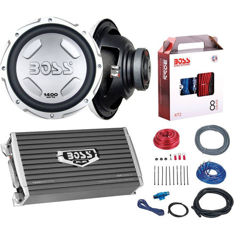 "Boss Audio B212SPKG 1600-Watt Bass Package with Two 12"" Subwoofers and Amp Installation Kit - Shopatronics - One Stop Shop. Find the Best Selling Products Online Today"
