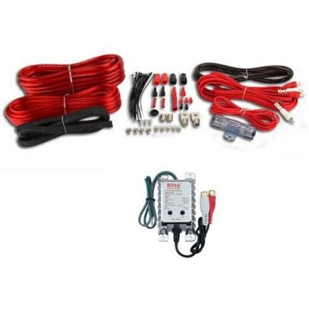VM Audio 4 Gauge Car Amplifier Installation Wiring Wire Kit Amp + RCA+ Converter - Shopatronics