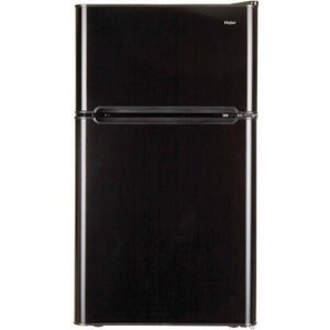 Haier 3.2 cu ft 2-Door Refrigerator, Black - Shopatronics