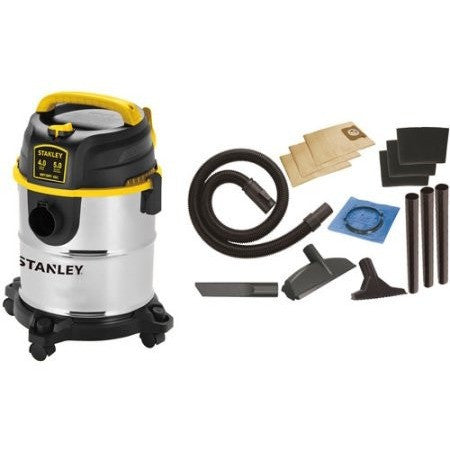Stanley 5-Gallon 4 Peak Portable Stainless Steel Wet/Dry Vacuum Cleaner, SL18143A - Shopatronics - One Stop Shop. Find the Best Selling Products Online Today