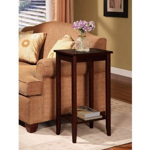 Rosewood Tall End Table, Coffee Brown - Shopatronics