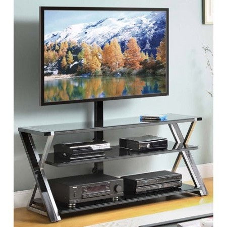 "Whalen 3-In-1 Black TV Console for TVs up to 70"" - Shopatronics - One Stop Shop. Find the Best Selling Products Online Today"