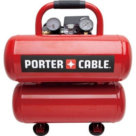 Porter Cable PCFP02040 4-Gallon Stack Tank Electric Air Compressor - Shopatronics