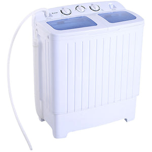 Portable Mini Compact Twin Tub 11lb Washing Machine Washer Spin Dryer - Shopatronics