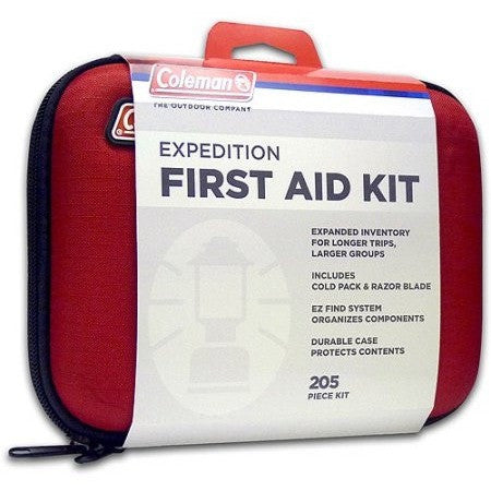 Coleman Expedition First Aid Kit, 205 items, Red - Shopatronics - One Stop Shop. Find the Best Selling Products Online Today