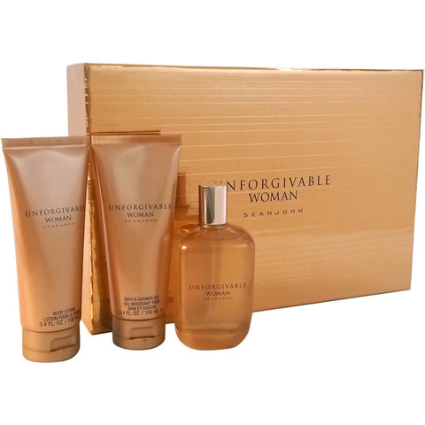 Sean John Unforgivable Woman for Women Fragrance Gift Set, 3 pc - Shopatronics