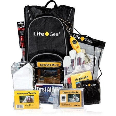 "Life Gear ""Day Pack"" Emergency Survival Kit with Emergency Gear and First Aid Kit - Shopatronics"