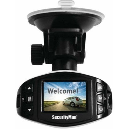 Securityman CARCAM-SDEII Mini HD Car Camera Recorder II with Impact-Sensing Recording - Shopatronics
