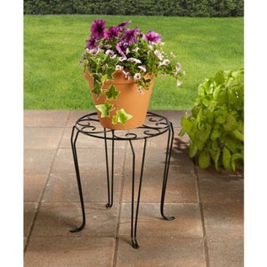 "Better Homes and Gardens 15"" Iron Scroll Plant Stand - Shopatronics - One Stop Shop. Find the Best Selling Products Online Today"