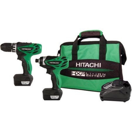 Hitachi 12V Peak 2 Tool Li-Ion Drill Combo Kit with Carrying Bag - Shopatronics