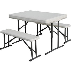 Stansport Camp Table with Folding Bench Seats - Shopatronics