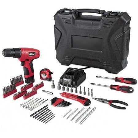 Hyper Tough 12Volt Cordless Lithium-Ion Drill/Driver with 100 pc Project Kit - Shopatronics