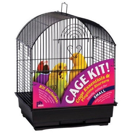 Prevue Pet Products Round Top Bird Cage Kit - Black - Shopatronics