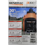 Generac 5791 iX800, 800 Watt Gas Powered Portable Inverter Generator (CARB Compliant) - Shopatronics