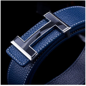 New 2016 Belt Mens Luxury Brand Smooth Buckle Casual All-Match Belt Designer Men Fashion PU Leather Belt For Man - Shopatronics