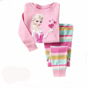 Children Clothing Sets girls pajamas suits baby girl Clothing Sets sleepwear kitty princess pajamas cotton shirts+trousers - Shopatronics - One Stop Shop. Find the Best Selling Products Online Today