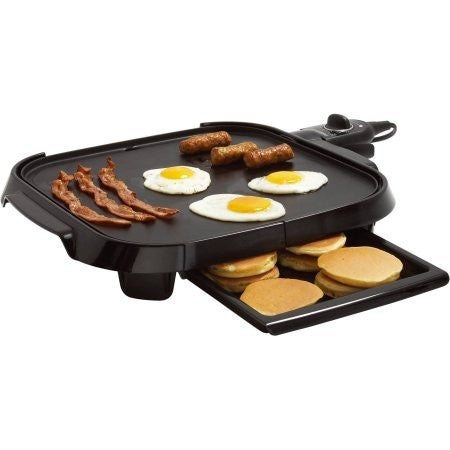 "Faberware Family-Size 14"" x 14"" Griddle, Black - Shopatronics - One Stop Shop. Find the Best Selling Products Online Today"