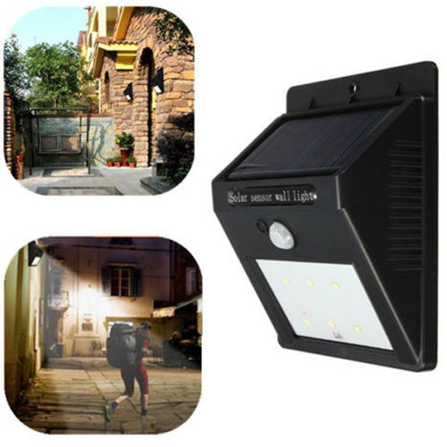 Solar Panel LED Flood Security Solar Garden Light PIR Motion Sensor 8 LEDs Path Wall Lamps Outdoor Emergency Waterproof Lamp - Shopatronics