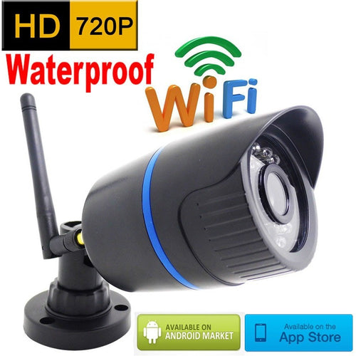 ip camera 720p HD wifi outdoor wateproof cctv security system surveillance mini wireless cam infrared P2P weatherproof mini home - Shopatronics
