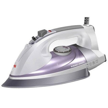 Black & Decker Professional Steam Iron with Pivoting Cord, Purple - Shopatronics