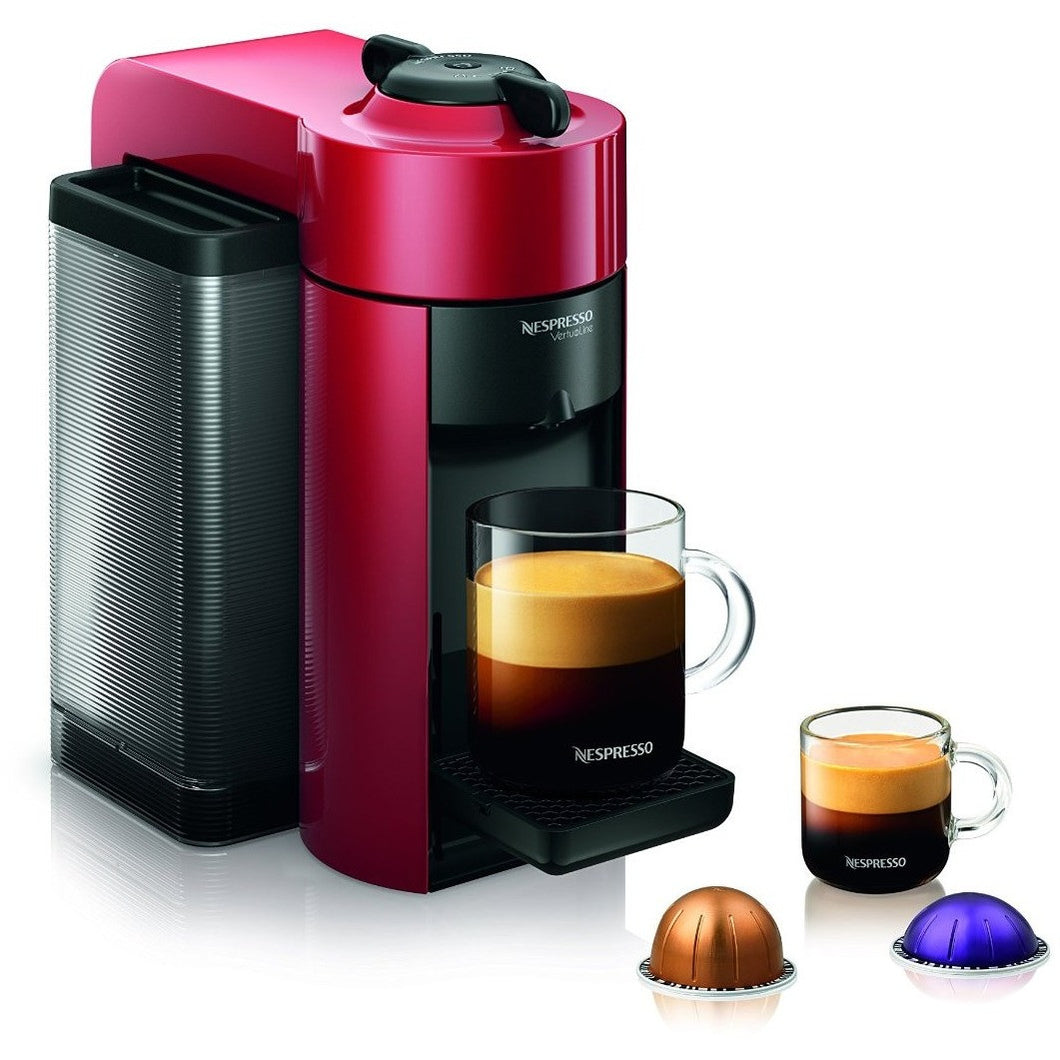 Nespresso Evoluo Coffee & Espresso Maker, Red - Shopatronics