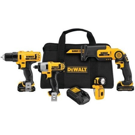 DEWALT DCK413S2 12-Volt Li-Ion 4-Tool Combo Kit - Shopatronics - One Stop Shop. Find the Best Selling Products Online Today