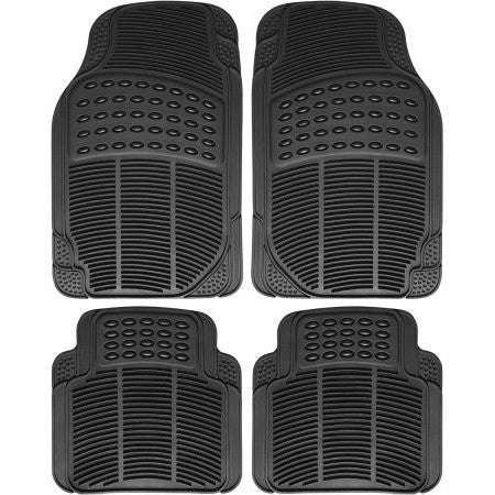 OxGord 4pc Full Set Ridged Heavy Duty Rubber Floor Mats, Universal Fit Mat for Car, SUV, Van & Trucks - Front & Rear, Driver & Passenger Seat - Black - Shopatronics - One Stop Shop. Find the Best Selling Products Online Today