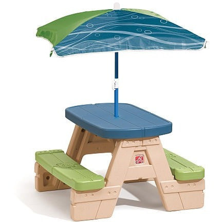 Step 2 Sit and Play Jr. Picnic Table with Umbrella - Shopatronics