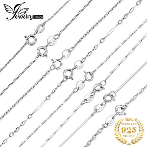 Sterling Silver Necklace Ingot Twisted Chains For Women