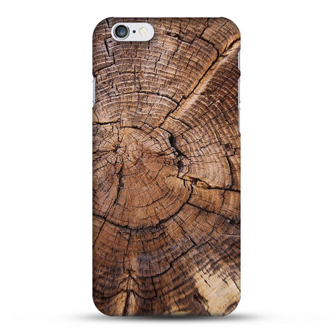 Original Natural Bamboo Wood Tree Growth Ring PC Hard Phone Case For Apple iPhone 7 7Plus 6 6s plus 5 5s SE Cover - Shopatronics