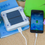 High quality portable solar mobile phone charger 5200mah Square Suckers Style Solar Charger Standard USB Solar Power Bank - Shopatronics