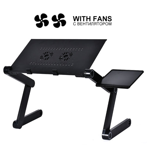 New Aluminum Alloy Adjustable Laptop Table Portable Folding Desk
