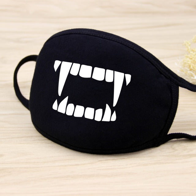 Cotton Dust Mask Cartoon Expression Teeth Muffle Face Respirator