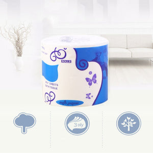 10x10cm Three Layer Toilet Tissue Soft Toilet Paper