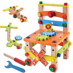 Wooden Assembling Chair Montessori Toys Educational Wooden Toy
