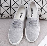 Size 35-43 Fashion Slip On Woman Flat Casual Shoe Canvas student shoes - Shopatronics