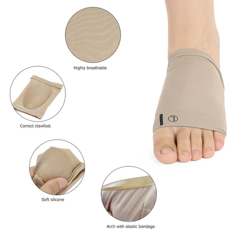 1 Pair Flat Feet Orthotic Plantar Fasciitis Arch Support Sleeve Cushion Pad - FREE International Shipping