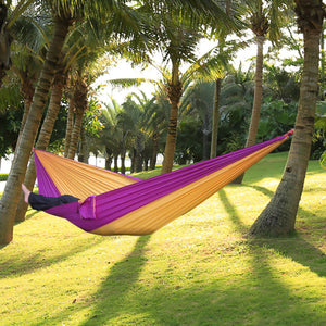 Best Portable Nylon Single Person Hammock Parachute Parachute Fabric Hammock For Travel Hiking Backpacking Camping Hammock 17 Colors - Shopatronics - One Stop Shop. Find the Best Selling Products Online Today