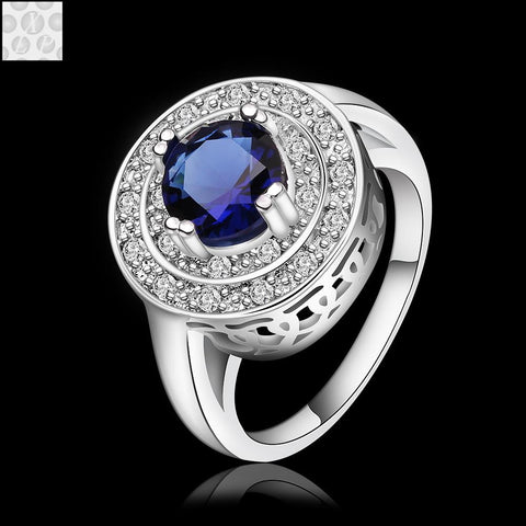 Free bestselling luxury CZ diamond 925 sterling silver female rings jewelry